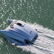 Banque image hélicoptère du protoype de bateau de transport rapide de passagers à faible consommation de l'entreprise A2V / Advanced Aerodynamic Vessels
