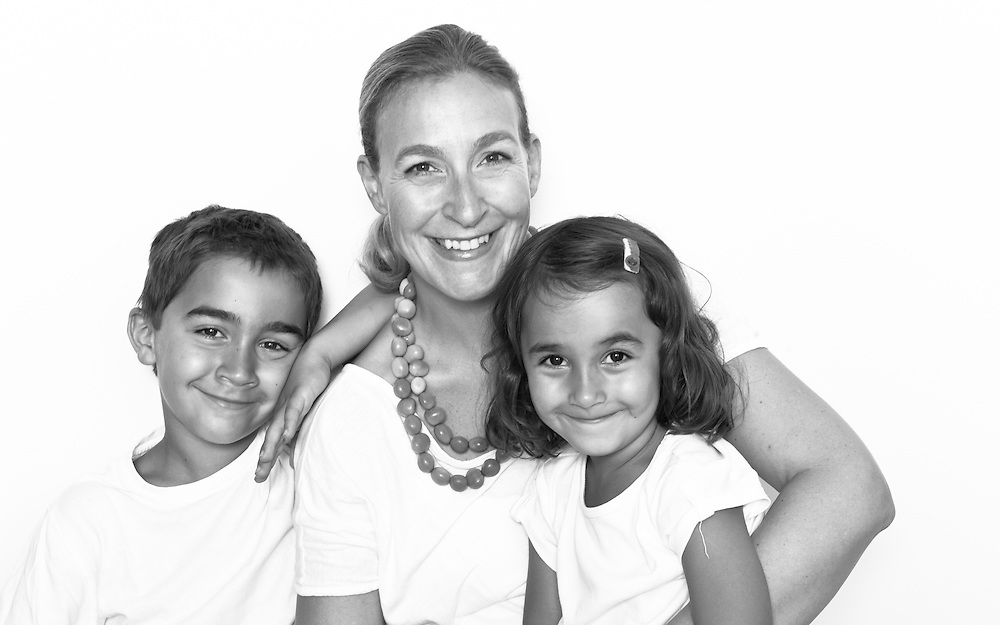 Anja Weninger, owner of tu..tu kids design company, with her two children, Pia and Lukas