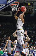 SOUTH BEND, IN - JANUARY 12: Prentiss Hubb #3 of the Notre Dame Fighting Irish shoots the ball during the game against the Boston College Eagles at Purcell Pavilion on January 12, 2019 in South Bend, Indiana. (Photo by Michael Hickey/Getty Images) *** Local Caption *** Prentiss Hubb