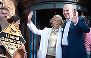 Sir Vince Cable and his wife Rachel arrive at the Liberal Democrats Autumn Conference in Brighton, East Sussex 15th September 2018 <br /> <br /> Vince Cable MP - leader of the Liberal Democrats and his wife <br /> Rachel Smith <br /> <br /> Photograph by Elliott Franks