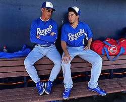 George Brett and Eric Hosmer, 2013
