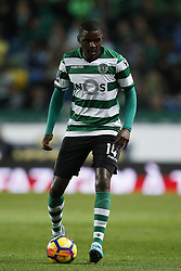 December 1, 2017 - Lisbon, Portugal - Sporting's midfielder William Carvalho in action during Primeira Liga 2017/18 match between Sporting CP vs CF Belenenses, in Lisbon, on December 1, 2017. (Credit Image: © Carlos Palma/NurPhoto via ZUMA Press)