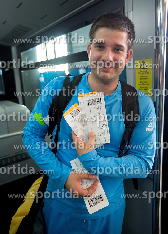 Darko Kojadinovic of Team Slovenia at Airport in Frankfurt during way back to Airport Joze Pucnik after the London 2012 Paralympic Games on September 10, 2012, in Frankfurt, Germany. (Photo by Vid Ponikvar / Sportida.com)