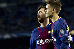 December 5, 2017 - Barcelona, Catalonia, Spain - Leo Messi and Denis Suarez during the UEFA Champions League match between FC Barcelona and Sporting CP Lisboa at the Camp Nou Stadium in Barcelona, Catalonia, Spain on December 5,2017  (Credit Image: © Miquel Llop/NurPhoto via ZUMA Press)