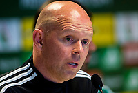 29/07/14 <br /> PEPSI ARENA<br /> WARSAW - POLAND<br /> Legia Warsaw manager Henning Berg offers his thoughts to the media ahead of his side's Champions League qualifier against Celtic.