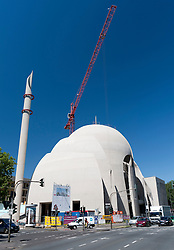 New Mosque for Turkish Muslim community under construction in Cologne Germany