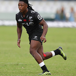 Sbu Nkosi of the Cell C Sharks during the Super Rugby match between the Cell C Sharks and the Western Force at Growthpoint Kings Park on May 06, 2017 in Durban, South Africa. (Photo by Steve Haag)