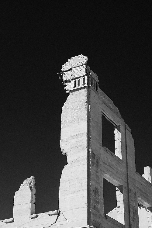 Rhyolite is a ghost town in Nye County, in the U.S. state of Nevada. It is in the Bullfrog Hills, about 120 miles northwest of Las Vegas, near the eastern edge of Death Valley. Wikipedia