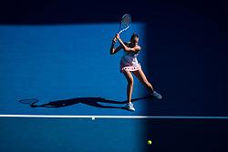 January 21, 2019 - Melbourne, VIC, U.S. - MELBOURNE, VIC - JANUARY 21: KAROLINA PLISKOVA (CZE) during day eight match of the 2019 Australian Open on January 21, 2019 at Melbourne Park Tennis Centre Melbourne, Australia (Photo by Chaz Niell/Icon Sportswire (Credit Image: © Chaz Niell/Icon SMI via ZUMA Press)