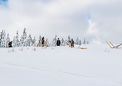 11.01.2019, Hahnenkamm, Kitzbühel, AUT, FIS Weltcup Ski Alpin, Schneekontrolle durch die FIS, im Bild arbeiter bei der Präparierung der Streif // worker preparing the streif during snow control by the FIS at the Hahnenkamm in Kitzbühel, Austria on 2019/01/11. EXPA Pictures © 2019, PhotoCredit: EXPA/ Stefan Adelsberger