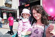 Mia and Ciara Ryan from Galway city at the opening of HMV Galwayat Edward square. Photo:Andrew Downes