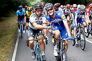 Peter Sagan (SVK, Bora - Hansgrohe) and Fabio Sabatini (ITA, QuickStep - Floors) during the 73th Edition of the 2018 Tour of Spain, Vuelta Espana 2018, Stage 13 cycling race, Candas Carreno - La Camperona 174,8 km on September 7, 2018 in Spain - Photo Luca Bettini / BettiniPhoto / ProSportsImages / DPPI