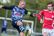 23-04-2016: Voetbal: Sportlust'46 v Zwaluwen: Woerden<br /> <br /> (L-R) Robin Vethorst van vv Zwaluwen, Mike Verhagen van Sportlust '46<br /> <br /> Foto: Gertjan Kooij