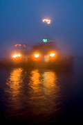 Tug boat lights at night