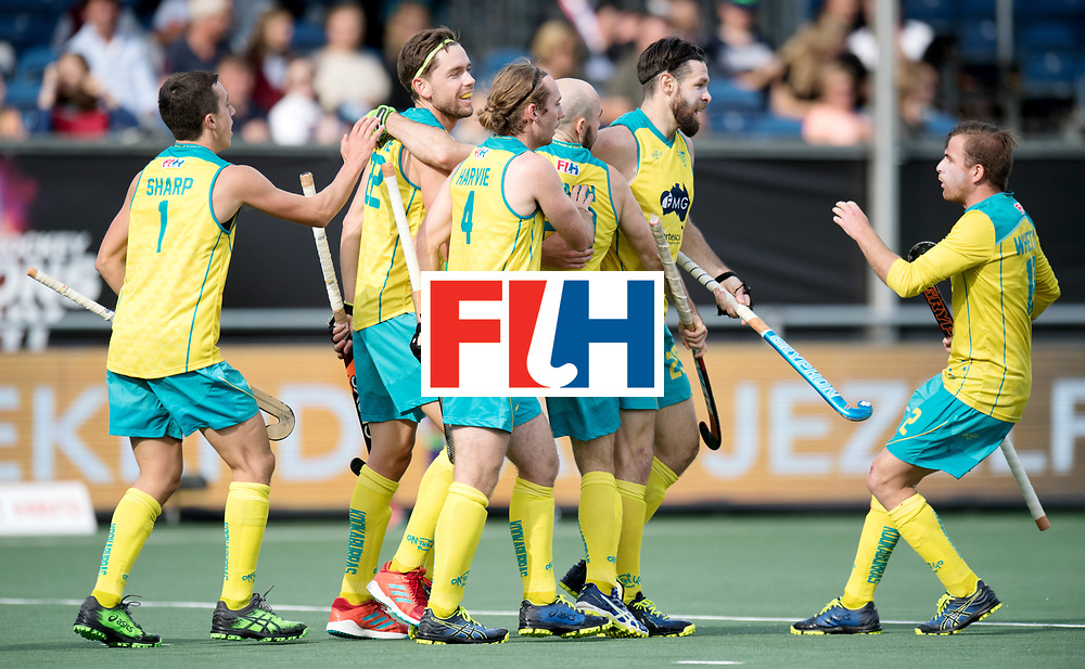 BREDA - Rabobank Hockey Champions Trophy<br /> Australia - Belgium <br /> Photo: Australia celebrate.<br /> COPYRIGHT WORLDSPORTPICS FRANK UIJLENBROEK