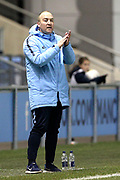 Manchester City Women's Team Manager Nick Cushing during the FA Women's Super League match between Manchester City Women and Everton Women at the Sport City Academy Stadium, Manchester, United Kingdom on 20 February 2019.