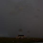 A thunder and lightening storm hits the coastline at Cisco Beach, Nantucket, Nantucket Harbor on Nantucket Island, Massachusetts, USA. Photo Tim Clayton