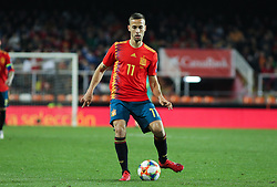 March 23, 2019 - Valencia, Valencia, Spain - Canales of Spain in action during European Qualifiers championship, , football match between Spain and Norway, March 23th, in Mestalla Stadium in Valencia, Spain. (Credit Image: © AFP7 via ZUMA Wire)