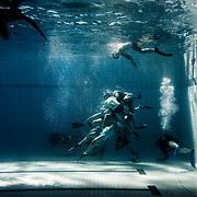 European championships in Underwater Rugby. Uppopallon em-kisat Helsingissä Pirkkolan uimahallissa. Suomi vs. Turkki 2-1. / Aamulehti 2017