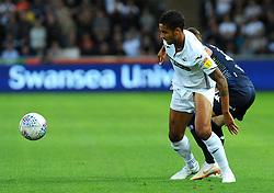 Kyle Naughton of Swansea City tries to hold off Pablo Hernandez of Leeds United- Mandatory by-line: Nizaam Jones/JMP- 21/08/2018 - FOOTBALL - Liberty Stadium - Swansea, Wales - Swansea City v Leeds United - Sky Bet Championship