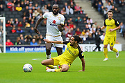 Burton Albion midfielder Ryan Edwards challenges for the ball during the EFL Sky Bet League 1 match between Milton Keynes Dons and Burton Albion at stadium:mk, Milton Keynes, England on 5 October 2019.