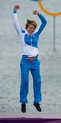 2012 Olympic Games London / Weymouth<br /> RSX Medal Ceremonies<br /> Petaja Tuuli, (FIN, RS:X Women)