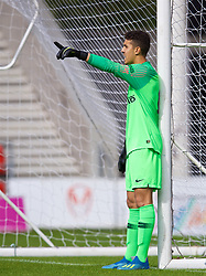 LIVERPOOL, ENGLAND - Tuesday, September 18, 2018: Paris Saint-Germain's 's goalkeeper Pierre Onvry during the UEFA Youth League Group C match between Liverpool FC and Paris Saint-Germain at Langtree Park. (Pic by David Rawcliffe/Propaganda)