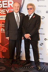 Grosvenor House Hotel, London, November 7th 2016. Luminaries from the music industry gather at the Grosvenor House Hotel for the Music Industry Awards, where this year The Who's Roger Daltrey CBE is honored with the 25th annual MITS award in support of Nordoff Robbins and The BRIT Trust. PICTURED: Harvey Goldsmith and Roger Daltrey