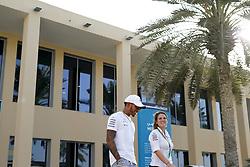 November 23, 2017 - Abu Dhabi, United Arab Emirates - Motorsports: FIA Formula One World Championship 2017, Grand Prix of Abu Dhabi, .#44 Lewis Hamilton (GBR, Mercedes AMG Petronas F1 Team),  Rosa Herrero  (Credit Image: © Hoch Zwei via ZUMA Wire)
