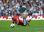 Adam Johnson.Manchester City 2010/11.El Hadji Diouf Blackburn Rovers.Manchester City V Blackburn Rovers (1-1) 11/09/10.The Premier League.