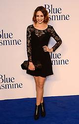 Blue Jasmine - UK film premiere. <br /> Tuppence Middleton arrives for the Blue Jasmine film premiere, Odeon, London, United Kingdom. Tuesday, 17th September 2013. Picture by Nils Jorgensen / i-Images