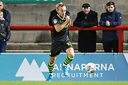 Forest Green Rovers Joseph Mills(23) runs forward during the EFL Sky Bet League 2 match between Morecambe and Forest Green Rovers at the Globe Arena, Morecambe, England on 22 October 2019.