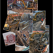 Montage of work in progress on  192 7th Avenue on the corner of 7th Avenue South and 11th Street.<br />
