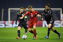 Joshua Kimmich #32 of FC Bayern Munchen vs Goncalo Santos #13 of GNK Dinamo Zagreb during football match between GNK Dinamo Zagreb and Bayern München in Group F of Group Stage of UEFA Champions League 2015/16, on December 9, 2015 in Stadium Maksimir, Zagreb, Croatia. Photo by Ziga Zupan / Sportida