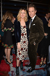 LONDON, ENGLAND 8 DECEMBER 2016: Laura Carmichael, Eddie Redmayne at the Omega Constellation Globemaster Dinner at Marcus, The Berkeley Hotel, Wilton Place, London England. 8 December 2016.