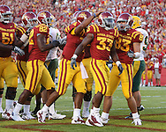 September 3, 2009: Iowa State running back Alexander Robinson (33) celebrates his 18 yard touchdown run during the first half of the Iowa State Cyclones' 34-17 win over the North Dakota State Bison at Jack Trice Stadium in Ames, Iowa on September 3, 2009.