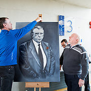 24.03.2017            <br /> Limerick Civic Trust, Marjorie Daly commissioned Jim Kemmy Portrait unveiling by Jan O'Sullivan TD at the Kemmy Business School, University of Limerick. <br /> <br /> Pictured at the event were, Mike and Joe Kemmy. Picture: Alan Place