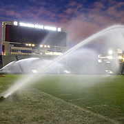 The Gamecock football field gets a shower after an SEC game in Columbia, S.C. Travis Bell Photography