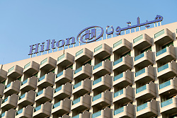 Exterior of Hilton Hotel JBR in Jumeirah Beach, Dubai, UAE, United Arab Emirates