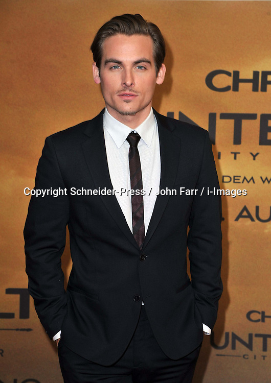 Kevin Zegers arrives for the 'The Mortal Instruments: City of Bones' Germany premiere at Sony Centre on Tuesday August 20, 2013 in Berlin, Germany. Photo by Schneider-Press / John Farr / i-Images. <br /> UK &amp; USA ONLY