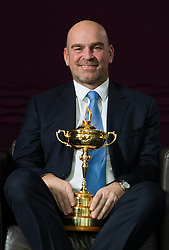 Thomas Bjorn, European Ryder Cup Captain for The 2018 Ryder Cup, during the press conference at the Hilton Heathrow, London. PRESS ASSOCIATION Photo. Picture date: Wednesday December 7, 2016. See PA story GOLF Ryder Cup. Photo credit should read: John Walton/PA Wire