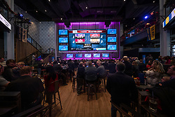 General images as Chick-fil-A Peach Bowl staff and volunteers look on during the College Football Playoff Selection Show, Sunday, Dec 8 2019 in Atlanta. (Paul Abell via AP)