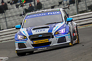 Ashley Sutton - Adrian Flux BMR Subaru Racing - Subaru Levorg GT during the Dunlop MSA British Touring Car Championship at Brands Hatch, Fawkham, United Kingdom on 8 April 2018. Picture by Aaron  Lupton.