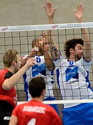 13-12-2014 NED: Prins VCV - Abiant Lycurgus, Veenendaal<br /> Lycurgus wint met 3-1 van VCV / Gino Naarden, Dennis van der Veen