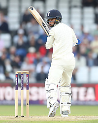 England's Sam Curran hit out against Pakistan during day two of the Second Natwest Test match at Headingley, Leeds.