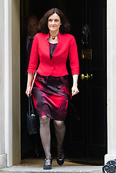 Downing Street, London, June 9th 2015. Secretary of State for Northern Ireland, Theresa Villiers leaves 10 Downing Street following the weekly meeting of the Cabinet.
