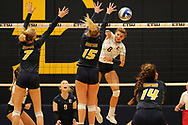 October 31, 2018 - Johnson City, Tennessee - Brooks Gym: ETSU outside hitter Leah Clayton (8)<br /> <br /> Image Credit: Dakota Hamilton/ETSU