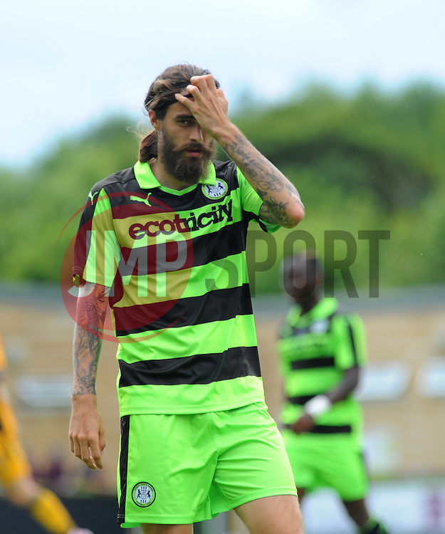 Rob Sinclair of Forest Green Rovers shows his frustration  - Mandatory by-line: Nizaam Jones/ JMP - 30/07/2016 - FOOTBALL - The New Lawn- Nailsworth, England - Forest Green Rovers v Newport County - Pre-season friendly