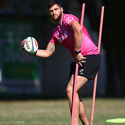 DURBAN, SOUTH AFRICA - MAY 07: Ruan Botha of the Cell C Sharks during the Cell C Sharks training session at Jonsson Kings Park on May 07, 2018 in Durban, South Africa. (Photo by Steve Haag/Gallo Images)