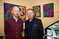 Ciaran Canon TD who opened  Frank O'Sullivan Exhibition of new work opening at the Town Hall Theatre Galway which runs till Wed the 15th of June with the artist Frank O'Sullivan . Photo:Andrew Downes, xposure